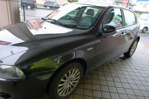 こだわり桐たんすのお客様のお車シリーズ今回は、イタリアのアルファ ロメオ でご来館いただきました。