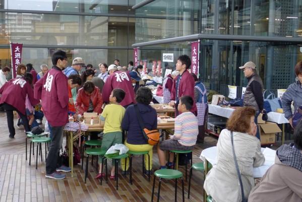 大阪泉州桐箪笥の箱作体験コーナー3