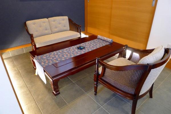 2人掛けソファ WC5502B450、膝掛け椅子 WC5500B450