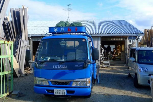 今年 最後の大阪泉州桐箪笥 初音の工房からの出荷です。