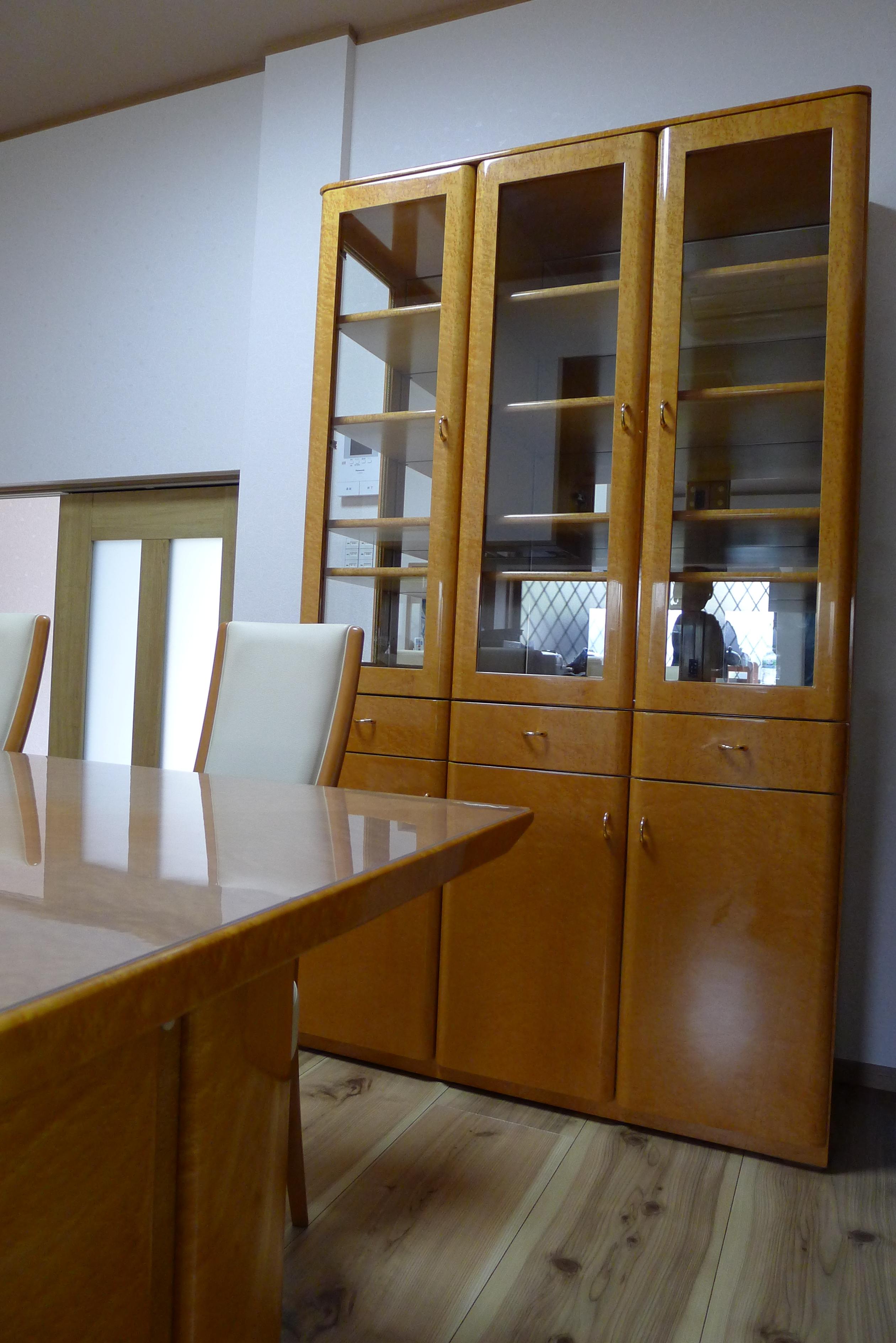 メープル食器棚、ダイニングセット