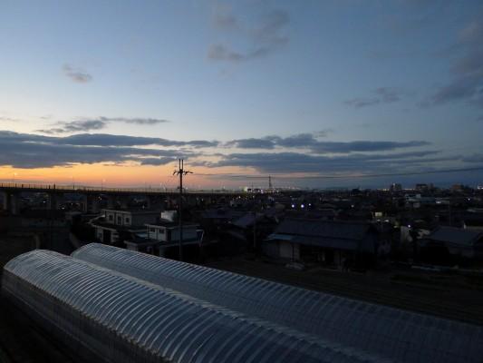 大阪泉州 泉佐野の上之郷から見た景色です。
