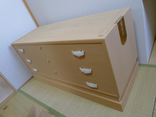 大阪泉州桐たんす すみれ型別誂え桐箪笥の下台