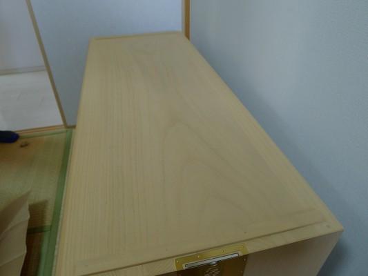 大阪泉州桐たんす すみれ型別誂え桐箪笥の下台の天板