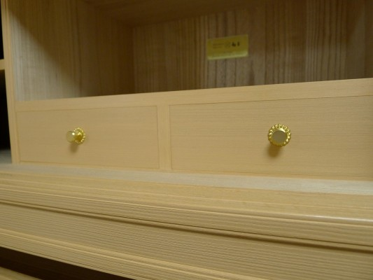 大阪泉州桐箪笥 すみれ型別誂え桐箪笥の夫婦箱