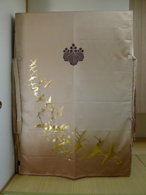 大阪泉州桐箪笥 すみれ型別誂え桐箪笥の油単