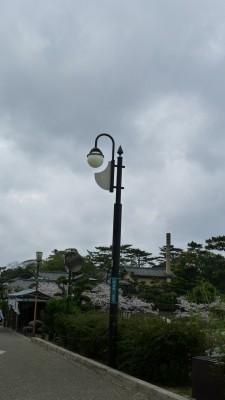 2015年 岸和田城 の街路灯