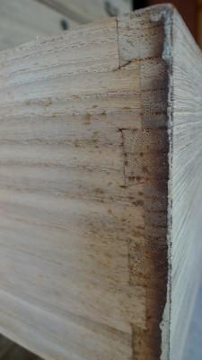 桐洗い修理の桐の小袖の無垢の前板