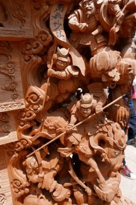 春木旭町だんじりの左側まつらの彫り物