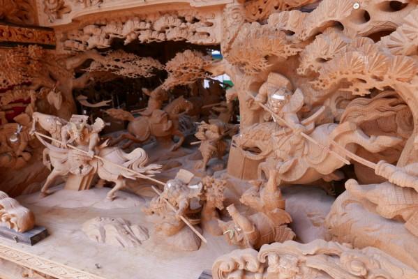 春木旭町だんじりの見送りし賤ヶ岳の彫り物2
