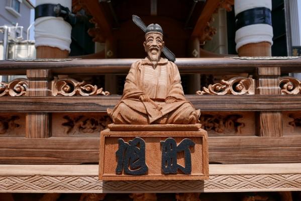 春木旭町だんじりの太閤秀吉の彫り物