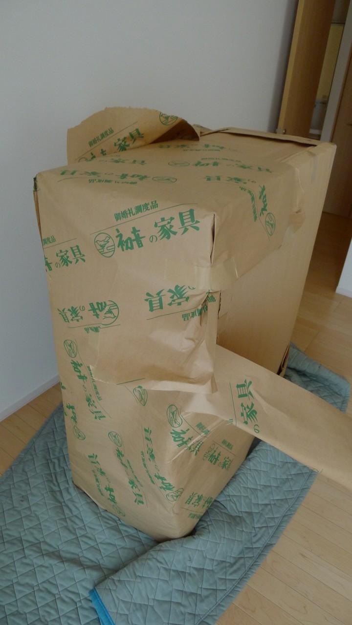 大阪泉州桐箪笥 小袖衣装箪笥の包装