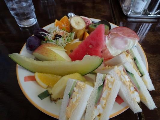 グリーン喫茶店のサンドイッチセット