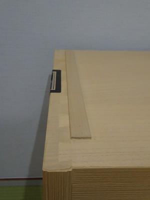 大阪泉州桐箪笥 胴厚一寸天地丸衣装箪笥の包み蟻組