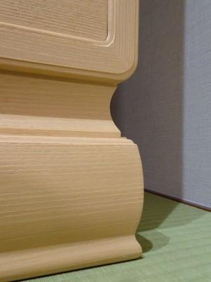 大阪泉州桐箪笥 胴厚一寸天地丸衣装箪笥七宝台