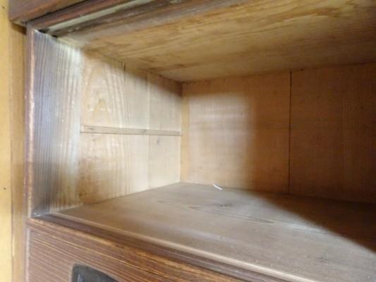 堺市のM様の桐の間たんすの洗い修理まえの背板内部