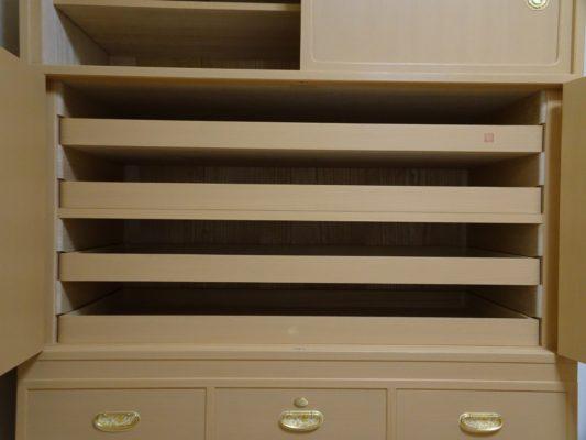 大阪泉州桐箪笥天丸3.8幅衣装箪笥の中棚