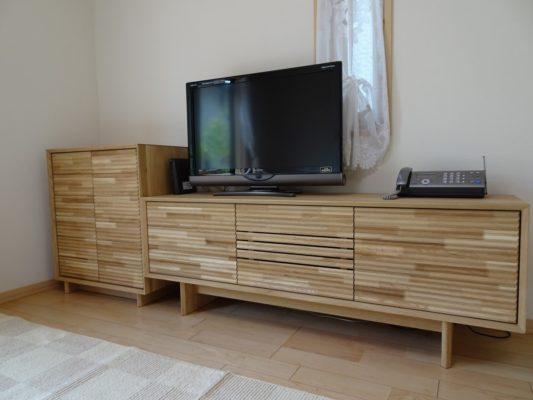 カリモク 品番:テレビボード QT5017ME-J、キャビネット QT2515E000