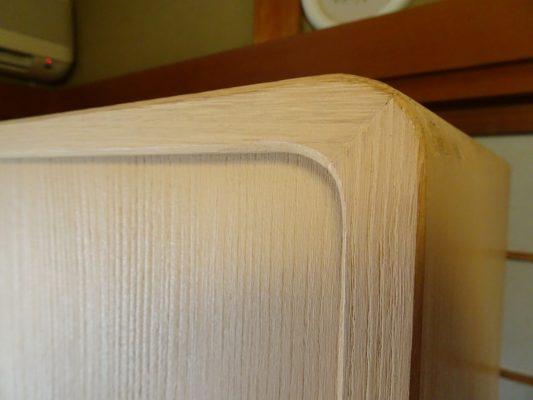 桐たんすの洗い替え後の三つ重ね桐衣装箪笥の天丸写真