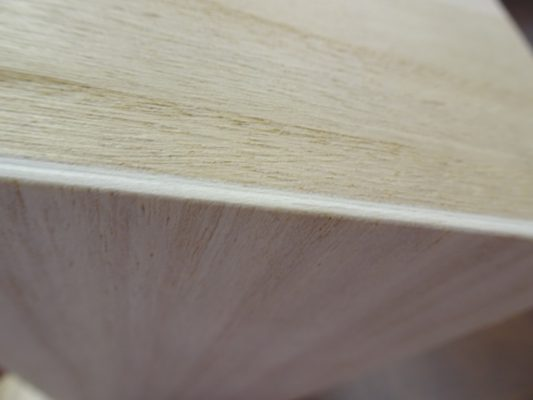 漂白された張り合わせの桐(風)箱のベニヤ 3