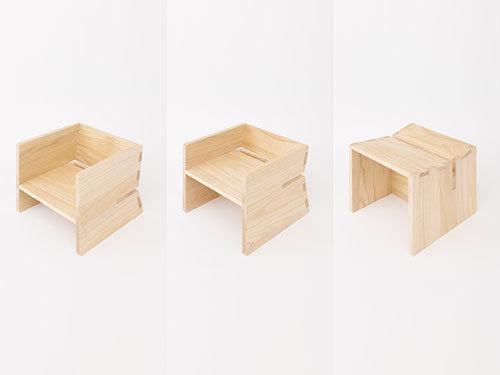 デザイナー・乾 陽亮氏と私どもの工房の共同開発 桐の子供椅子『CHOCON』(チョコン)がJapaaanマガジンに掲載されました。