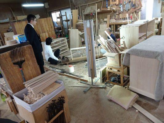 日本経済新聞社様の工房撮影取材