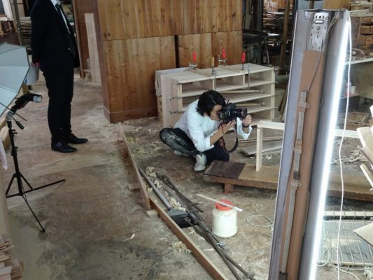 日本経済新聞社様の工房撮影取材2