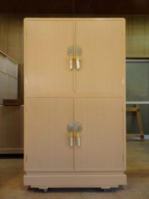 大阪泉州桐箪笥天地丸14杯お盆いり二つ重ね衣装箪笥