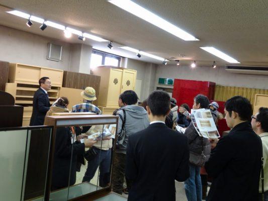 岸和田ブランド工房見学ツアー いい桐たんすの見極め方 為になる研修