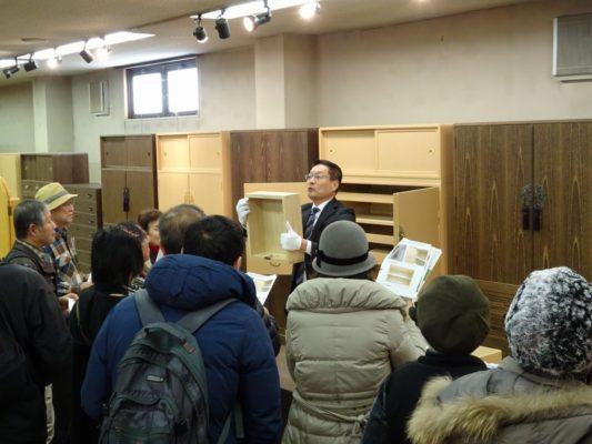岸和田ブランド工場見学ツアー いい桐タンスの見極め方 講習引出し
