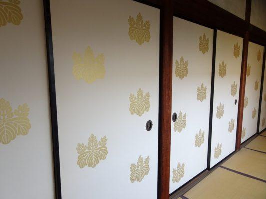 京都 醍醐寺の三宝院の襖