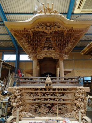 緊急ブログ!春木旭町の修理中のだんじりを特別にご紹介させていただきます。
