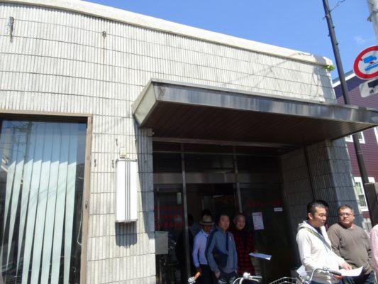 桐たんすの社長ブログ 各町曳行責任者も春木祭礼の道路の点検に参加します。