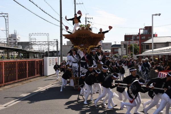 2017年 春木だんじり祭り 春木旭町 試験引き 写真2