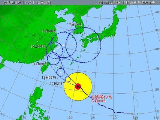 台風18号 進路予想