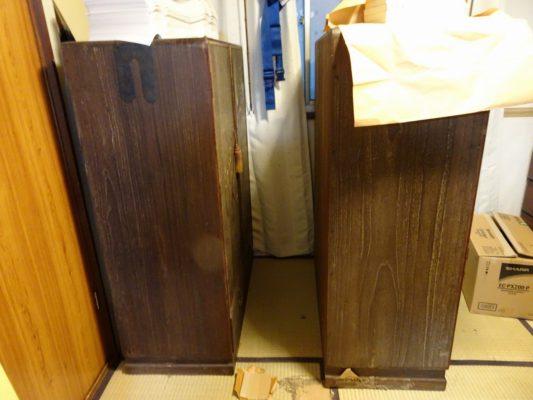 こだわりの桐たんすの社長ブログ 古い昔のいい桐たんすの洗い 修理のご依頼です。