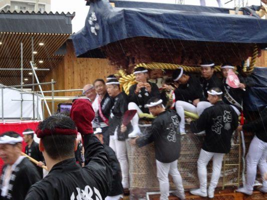 平成29年 春木旭町 宵宮 雨天曳行 駅