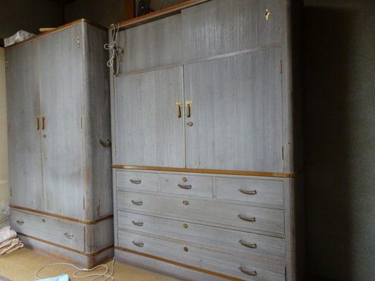 かわいそうな 洗い修理の桐の和箪笥