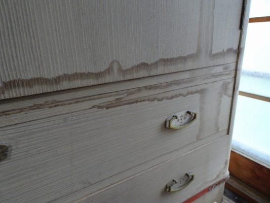 桐箪笥が大好きな社長ブログ 台風21号の被害にあった雨漏りで濡れた桐箪笥の見積り修理依頼!