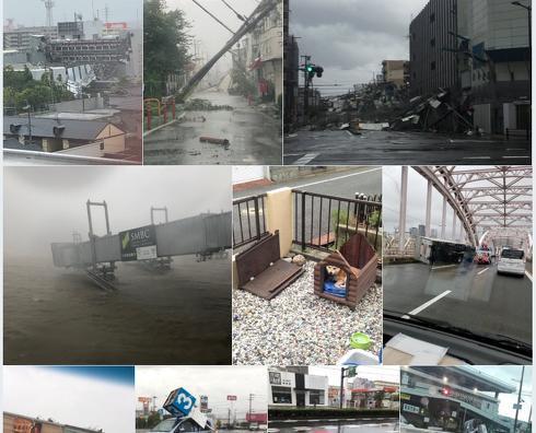 桐たんすの社長ブログ 台風21号の被害について・・・・