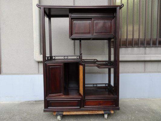 桐たんすの社長ブログ 唐木(紫檀 花梨 鉄刀木)の棚の修理や座敷机の修理もお任せください。