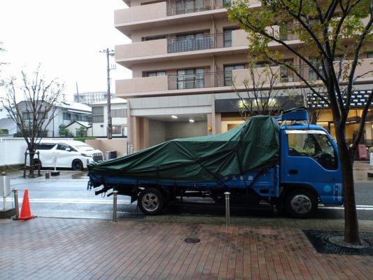 桐タンスの社長ブログ 雨の日の納品は・・・