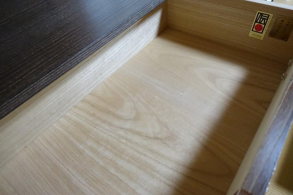 大阪泉州桐箪笥 田中家具製作所 焼桐美しい底板