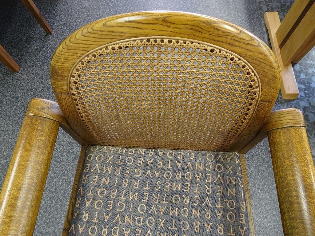藤の椅子の修理完成