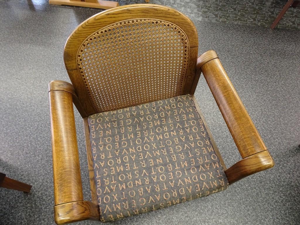 藤の椅子の修理 見事に完成